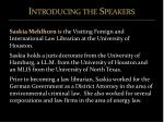 introducing the speakers4