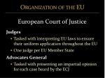 organization of the eu12
