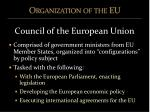 organization of the eu8