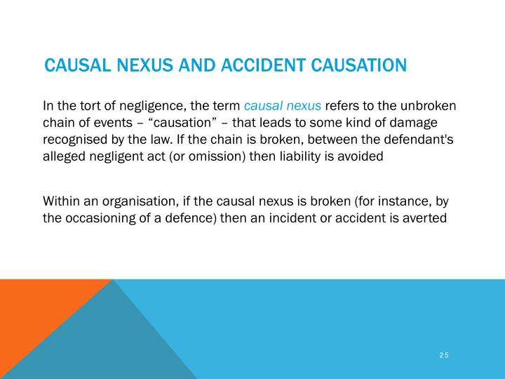 Causal nexus and accident causation