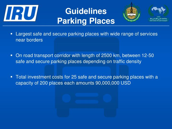 Largest safe and secure parking places with wide range of services near borders