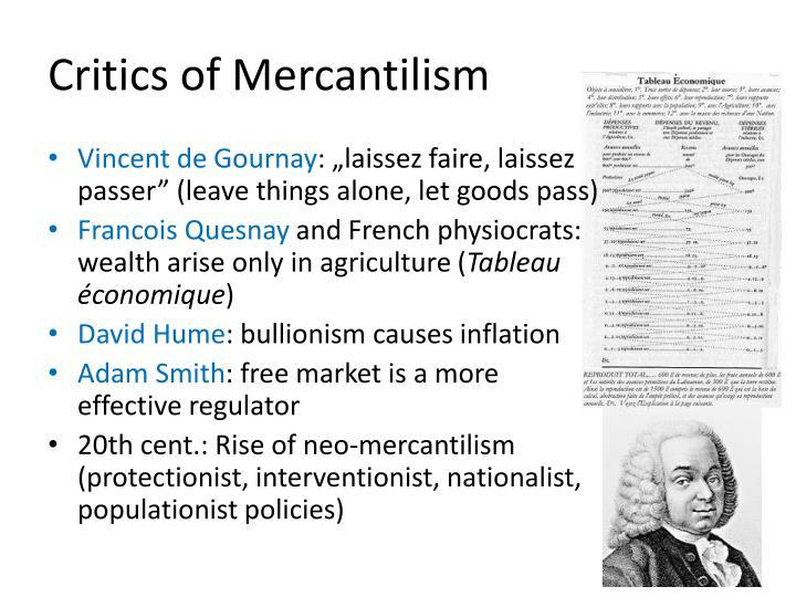 mercantilism vs laissez faire