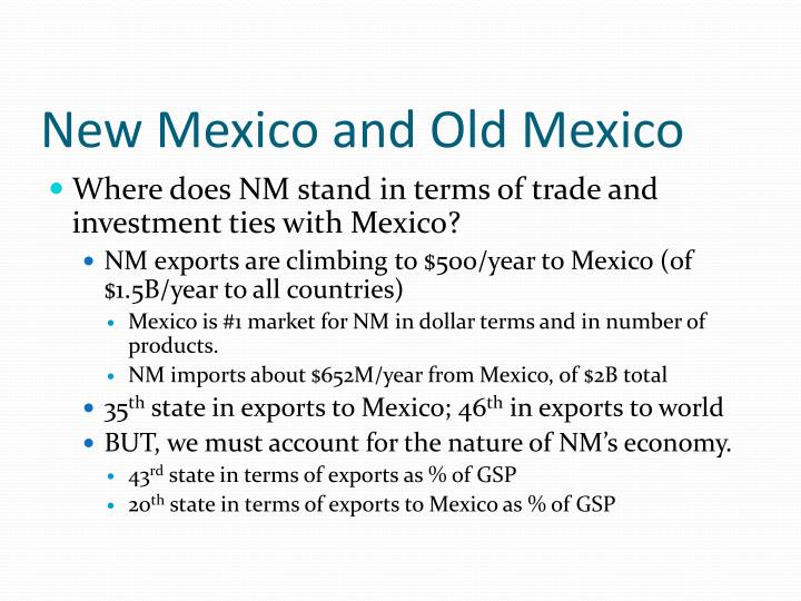 New Mexico and Old Mexico