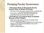 dumping faculty governance1