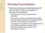 growing corporatization