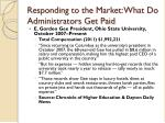 responding to the market what do administrators get paid
