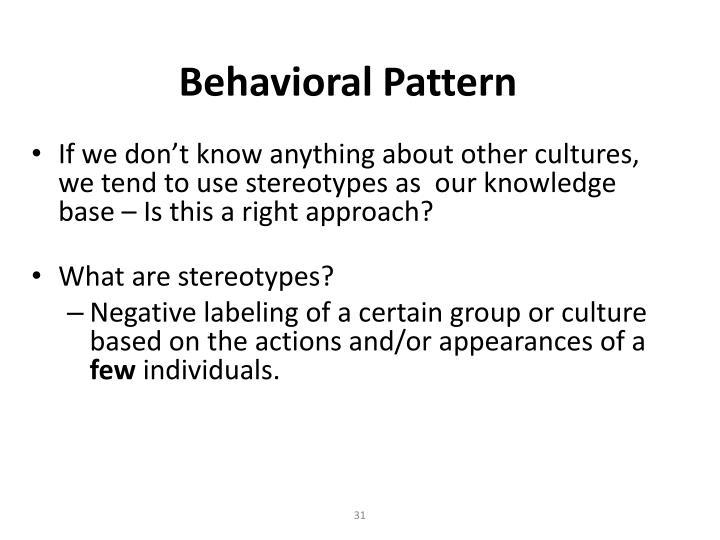 Behavioral Pattern