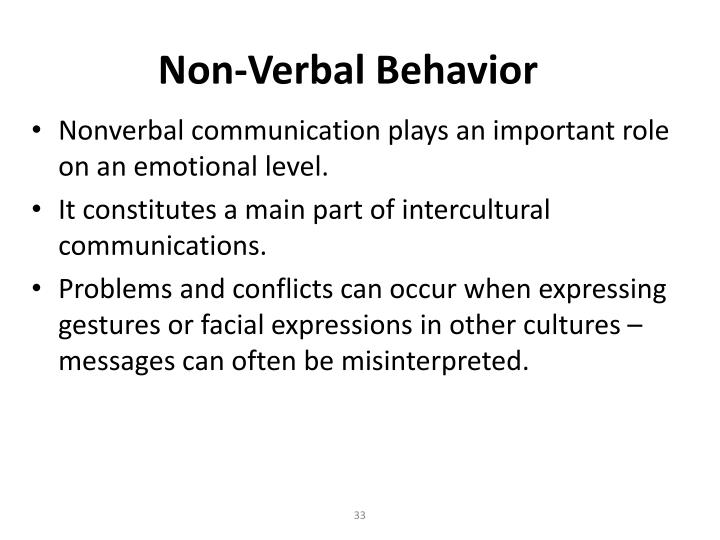 Non-Verbal Behavior