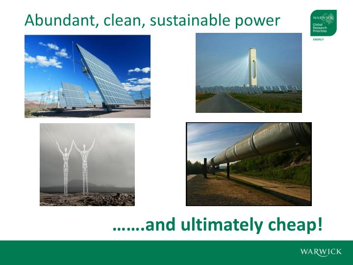 Abundant, clean, sustainable power