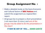 group assignment no 1