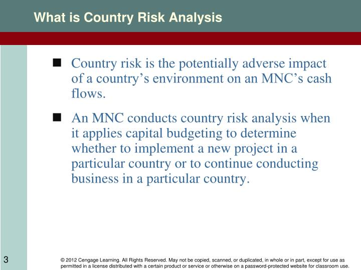 What is country risk analysis