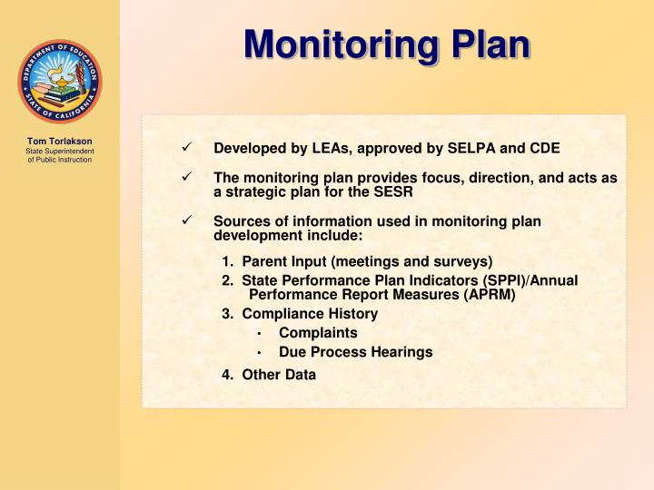 Developed by LEAs, approved by SELPA and CDE