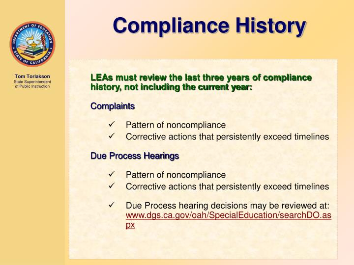 Compliance History