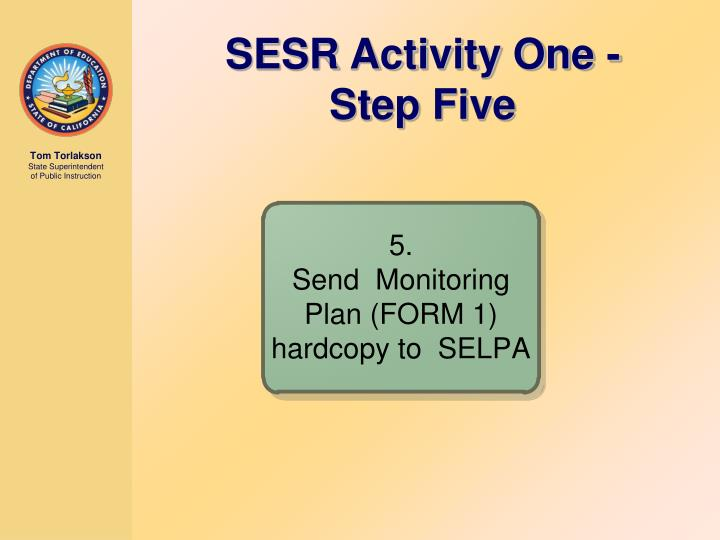 SESR Activity One - Step Five