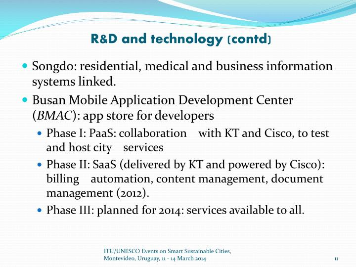 R&D and technology (