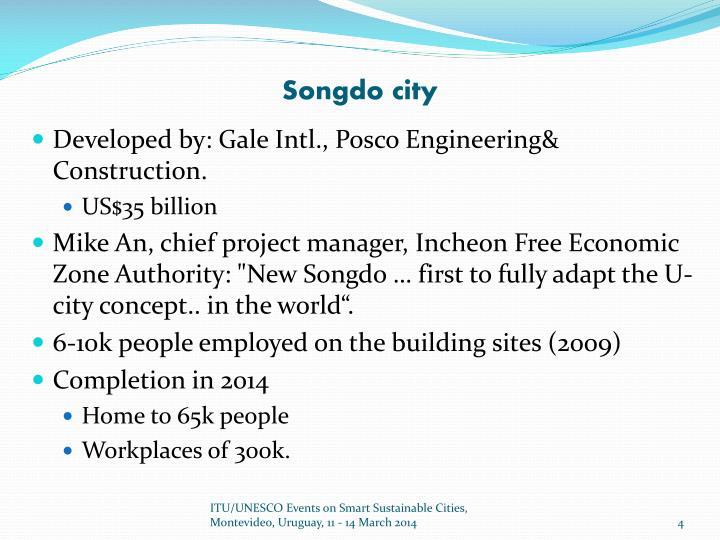Songdo city