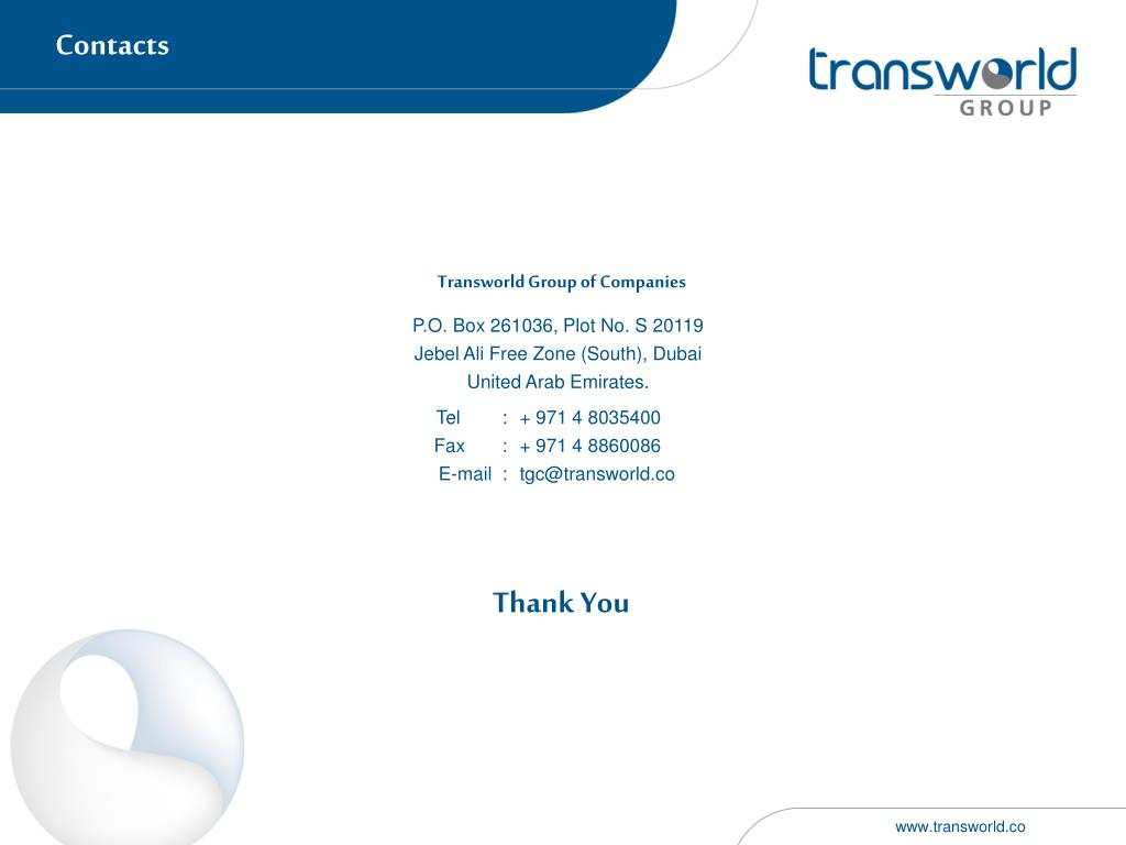 PPT - Transworld Group PowerPoint Presentation - ID:1685610