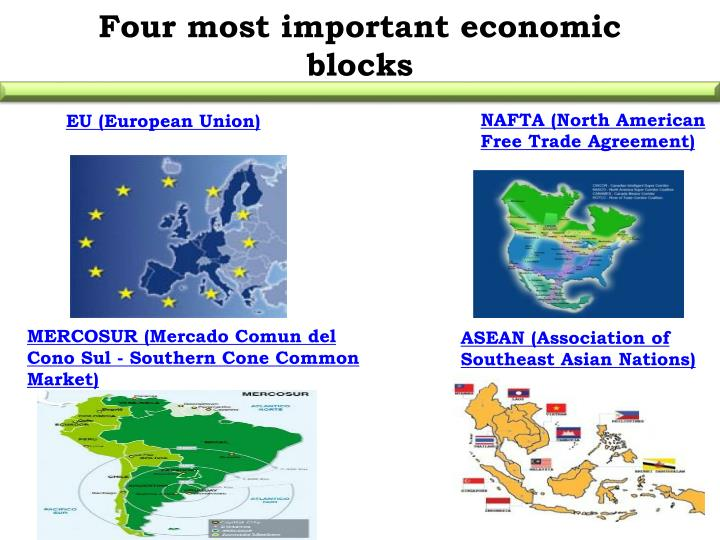 Four most important economic blocks