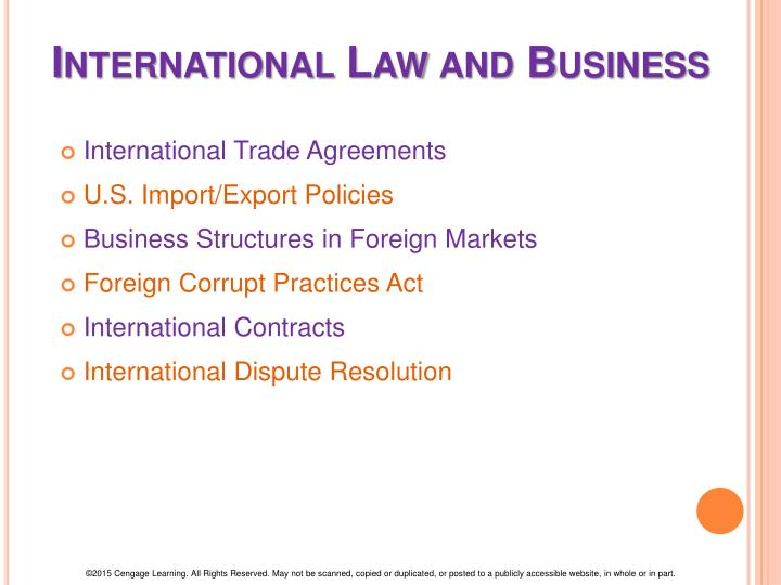 international law in business dispute essay Essays on international law  and the ninth one investigates the place of negotiation as a method of international dispute resolution finally, the tenth essay.