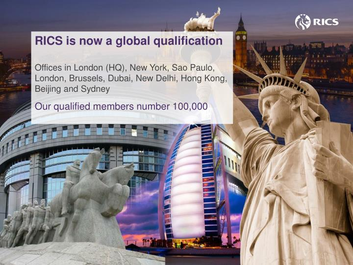 RICS is now a global qualification