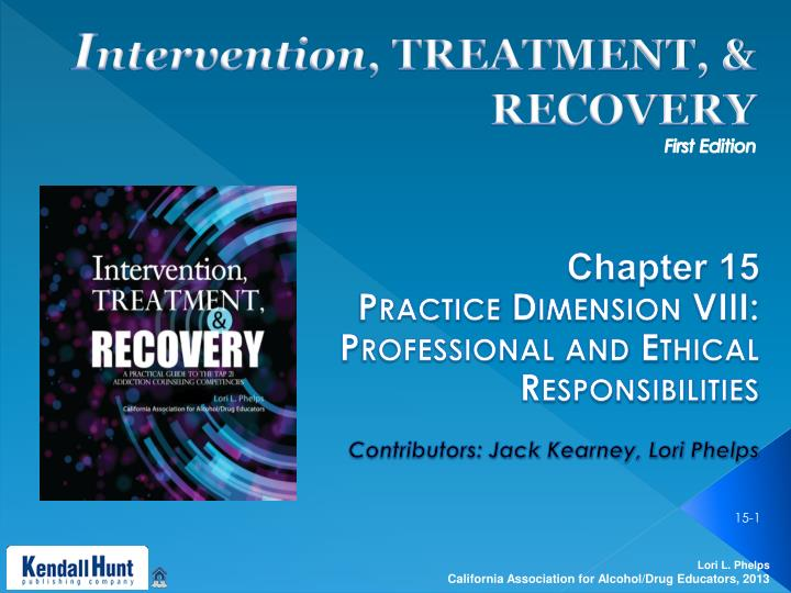 ethics and intervention techniques •counselors need training in using a variety of intervention strategies in working with clients on their spiritual concerns reasons for record keeping •from a clinical perspective, record keeping provides a history that a therapist can use in reviewing the course of treatment.