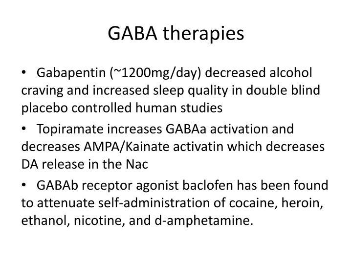 GABA therapies