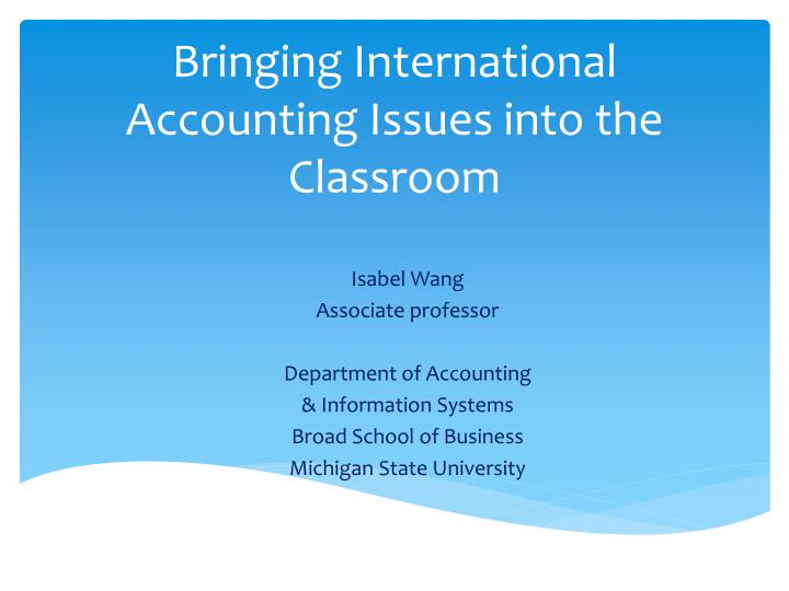 issues with international accounting
