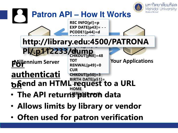 Patron API – How It Works
