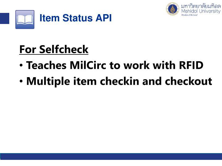 Item Status API