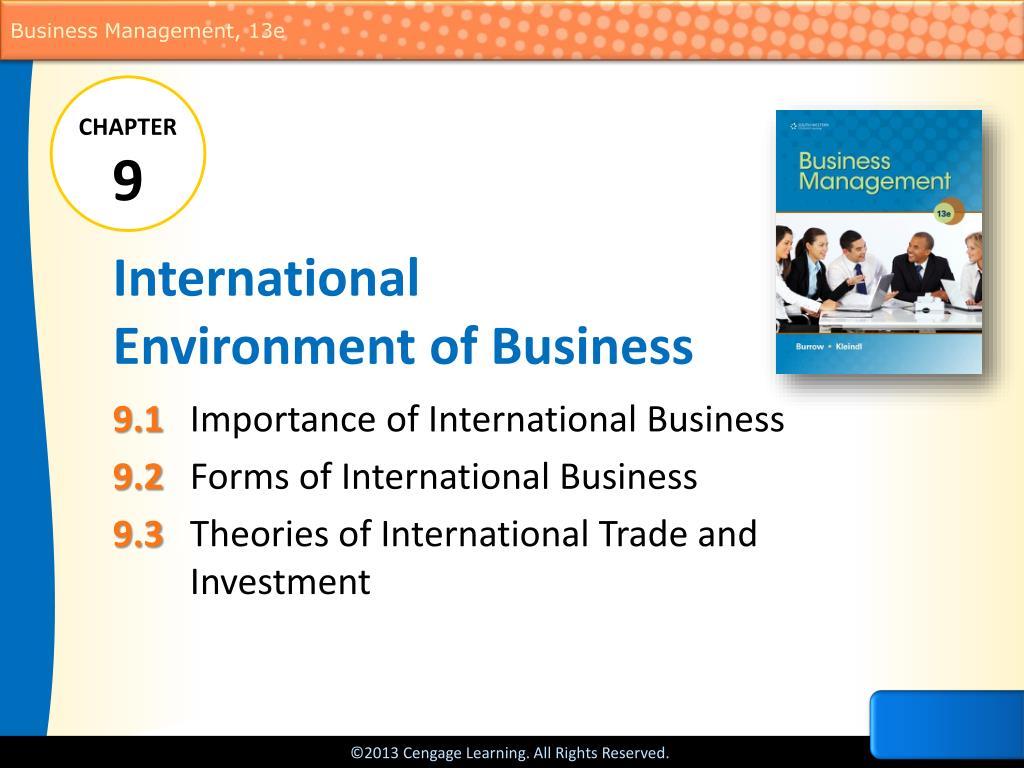 ppt international environment of business powerpoint presentation