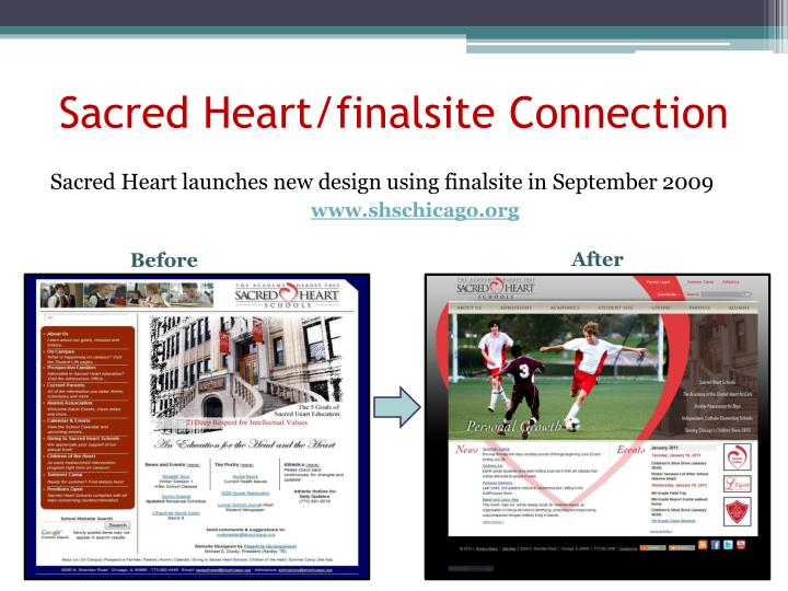 Sacred heart finalsite connection