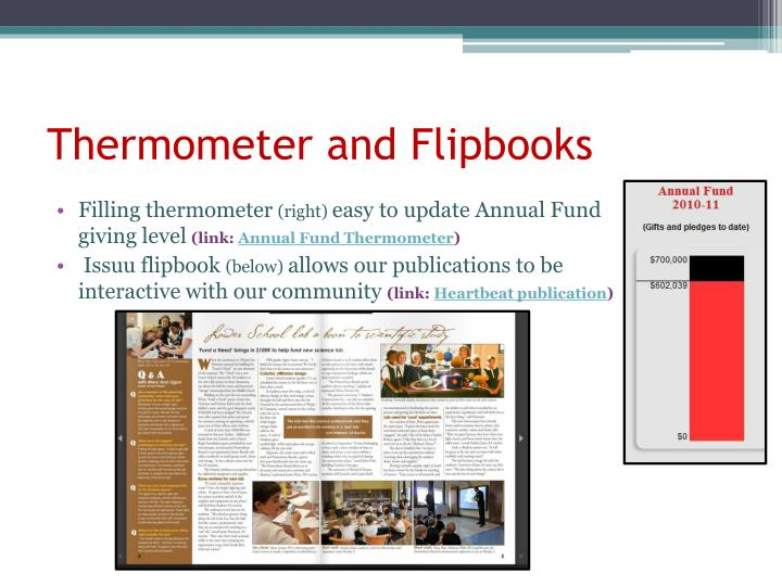 Thermometer and Flipbooks