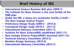 brief history of ibs