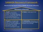samhsa recovery framework