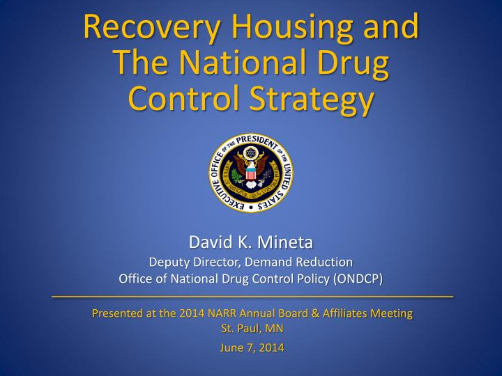 an introduction to the national drug control policy marijuana Marijuana availability in the united the white house's office of national drug control policy marijuana is considered by the drug enforcement.