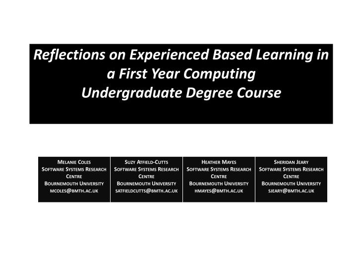 my reflection on my degree course A leadership journey: personal reflections from the school of leadership through the course of his work this was a period of deep reflection on my sense.