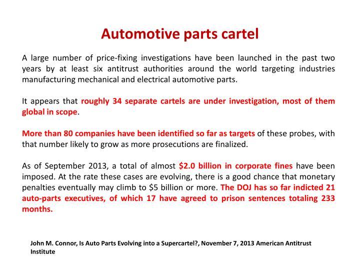 Automotive parts cartel