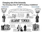 changing role of the university the university of the 14 th 20 th century a battlefront