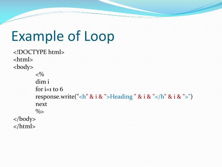 Example of Loop