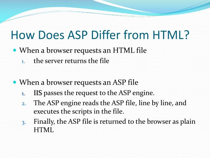 How Does ASP Differ from HTML?
