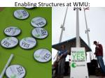enabling structures at wmu
