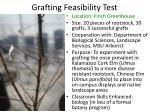 grafting feasibility test
