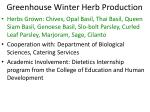 greenhouse winter herb production