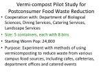 vermi compost pilot study for postconsumer food waste reduction1