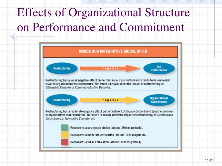 """impact of organizational structure on employee performance Marketing science institute to ask, """"how do organizational structure and  thus,  the impact of structural alignment on performance depends on whether the """" customer-  additional or redundant employees, more complex communication)  to."""