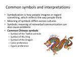 common symbols and interpretations