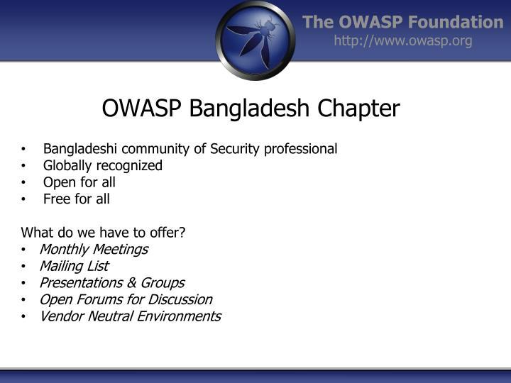 OWASP Bangladesh Chapter