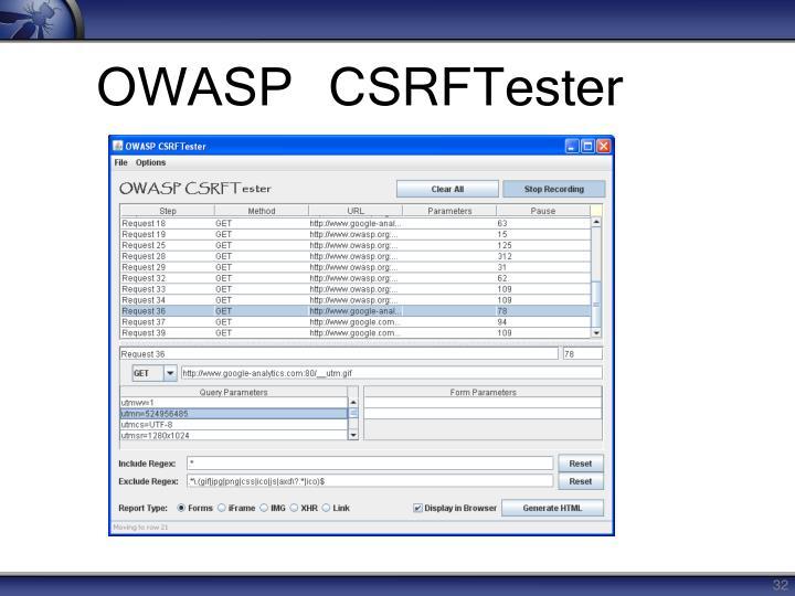 OWASP CSRFTester
