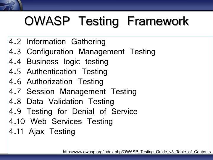 OWASP Testing Framework