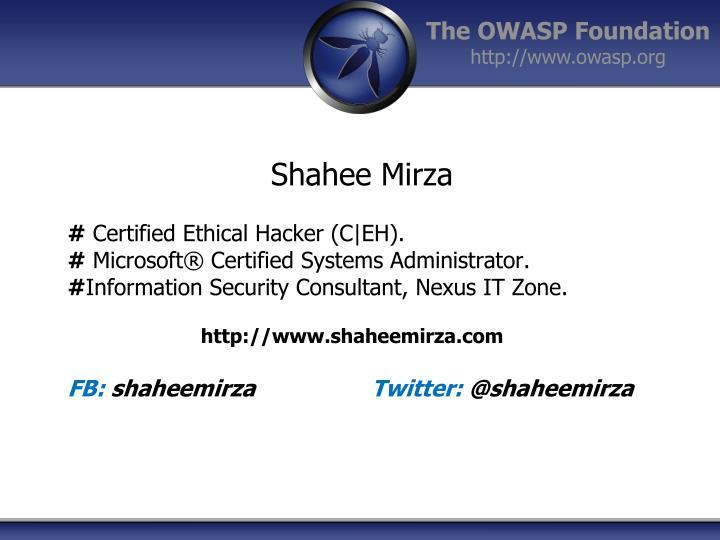 Shahee Mirza